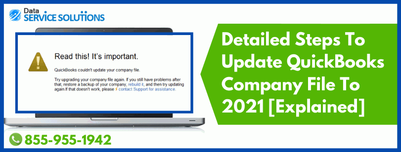 how to update a company file in QuickBooks