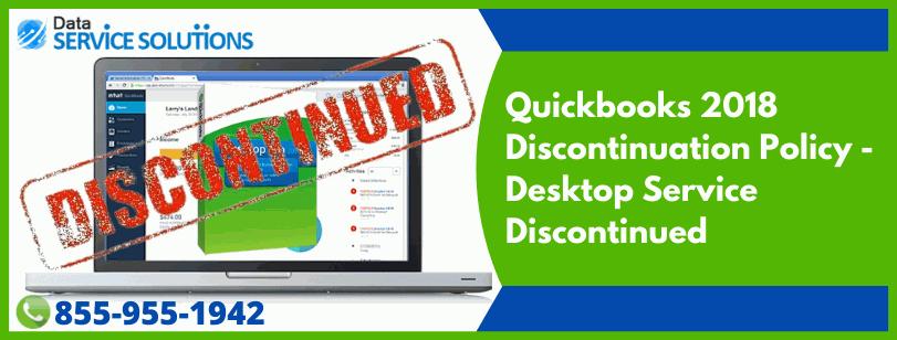 QuickBooks Desktop 2018 Service Discontinuation Policy