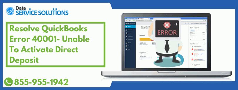 QuickBooks Payroll Account Update Error 40001