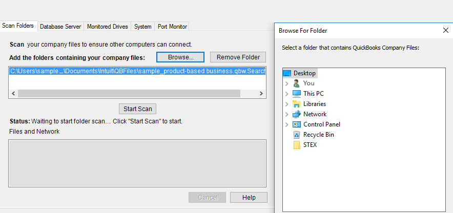 Scan Your Folders using Database Scan Manager
