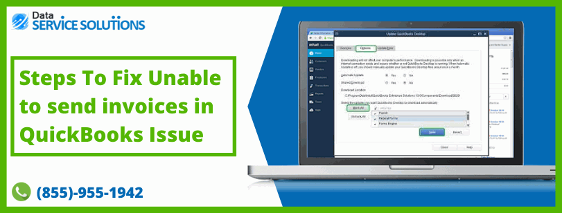 Resolve Cannot send invoices with QuickBooks Email