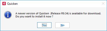 Update Quicken to latest release