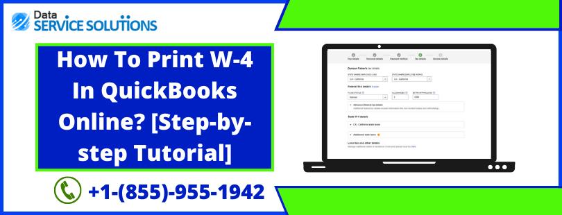 Enter w-4 in QuickBooks Online