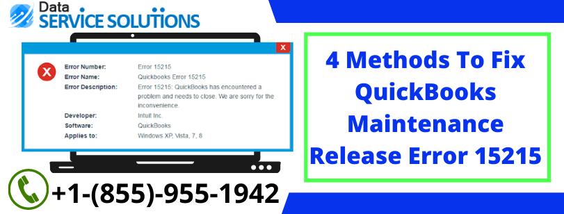 QuickBooks 2013 Error 15215